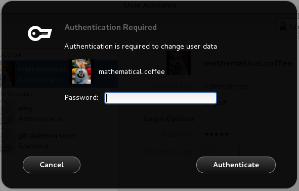 GNOME Shell's polkitAuthenticationAgent.js code, image stolen from http://mathematicalcoffee.blogspot.co.uk/2012/09/gnome-shell-javascript-source.html